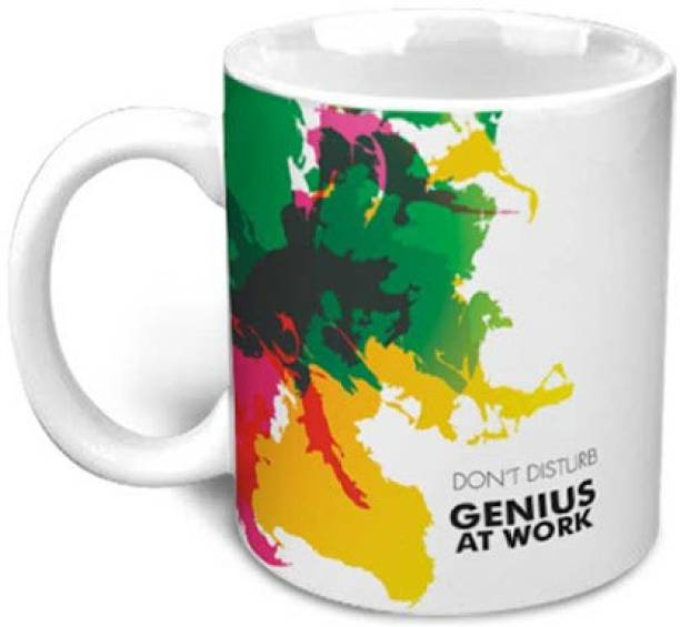 HOT MUGGS Genius at Work - Message Ceramic Coffee Mug