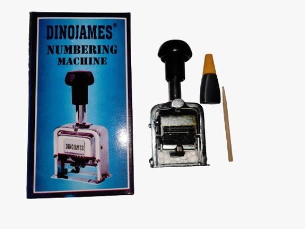 dinojames Numbering Machine 6 Digit (Heavy Duty)  Office Set