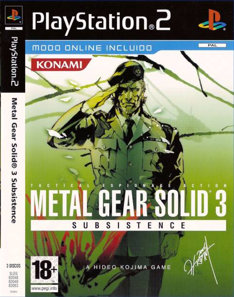 METAL GEAR SOLID 3 SUBSISTENCE FULL GAME PLAYSTATION 2 (PS2 ) (STANDARD)