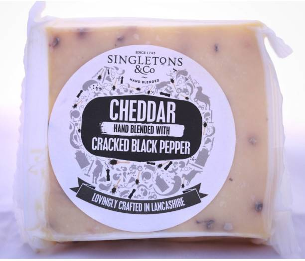 Singletons & Co Cracked Black Paper Cheddar Cheese Pack of 1 200 g