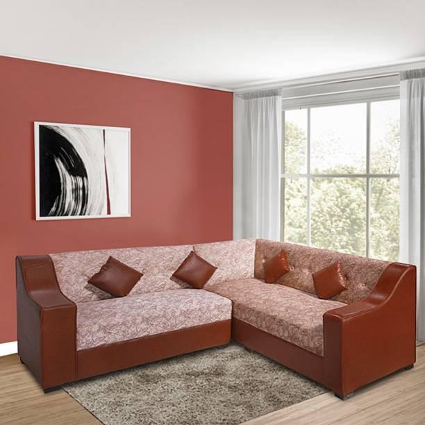ELTOP Corner sofa set L shape Fabric 5 Seater  Sofa