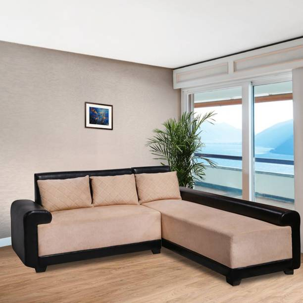ELTOP Savvy L Shape Fabric 5 Seater  Sofa