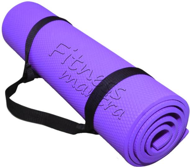 Fitness Mantra Low Price Yoga Mat with Carrying Strap Purple 6 mm Yoga Mat