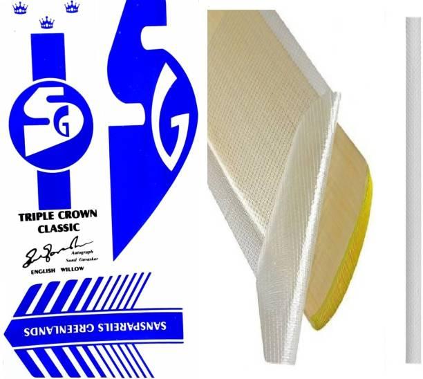 SG MULT SG Triple Crown Classic Cricket Bat Sticker & Grip, Anti Scuff Sheet Bat Sticker