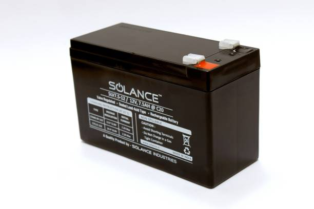 Solance SLV7.5-12@C20 12V 7.5AH SMF Battery for Use in UPS/Solar and More Instruments.MADE IN INDIA. UPS