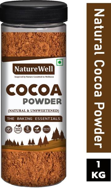 Naturewell Organics Unsweetened & Natural Cocoa Powder 1 Kg for Making Chocolate Cake, Cookies, Chocolate Bread, Shake, Brownies, Chocolate Desserts Cocoa Powder