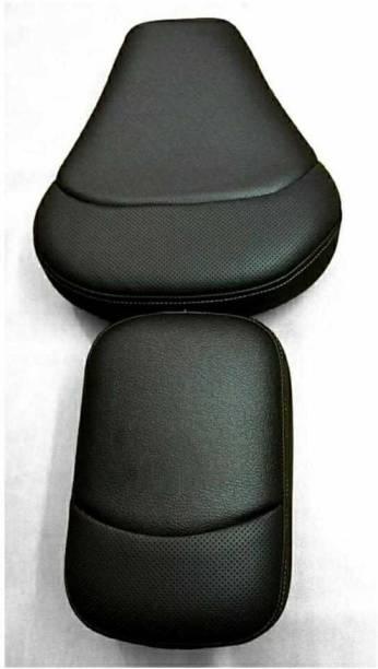 KOHLI BULLET ACCESSORIES Seat Cover Fancy Black For Royal Enfield Classic , Classic Chrome Split Bike Seat Cover For Royal Enfield Classic Chrome, Classic Desert Storm, Classic 350, Classic, Classic 500