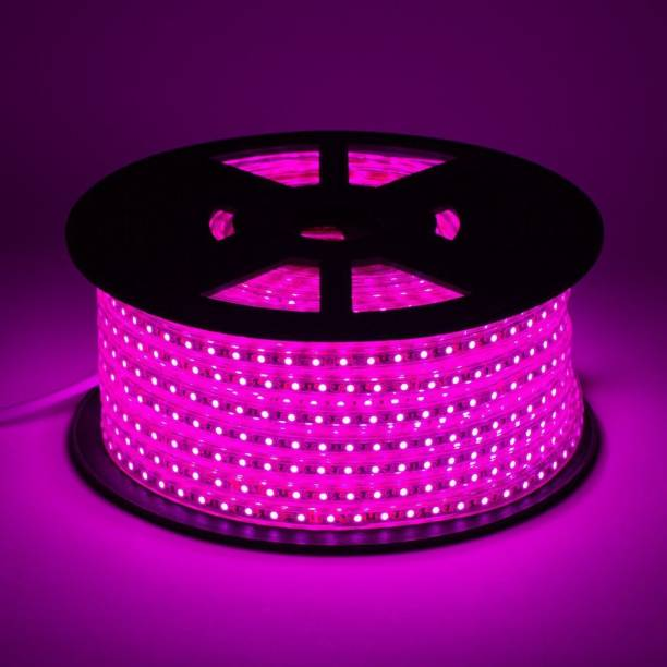 Hybrix LED Cove Light (05 Mtr. Roll) Rope Light, Rice Light, Pipe Light, SMD5730 Double Row ED (120 LED Per Mtr), Waterproof IP67 & Flexible With Free Adaptor, Super Bright Pink Color with warranty Recessed Ceiling Lamp