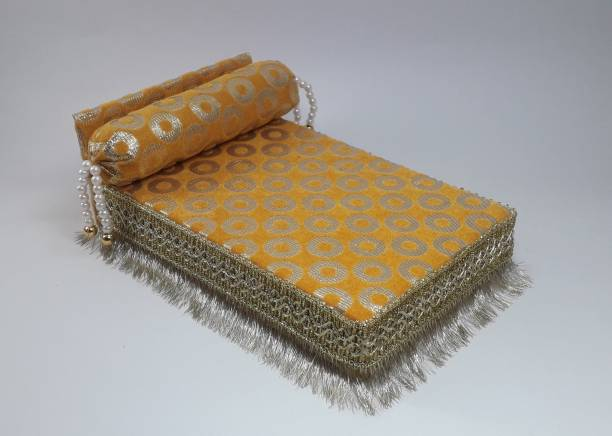 R D Handicraft Thakur ji Bed , Laddu Gopal ji Bed and Kahna ji Bed Silk All Purpose Chowki