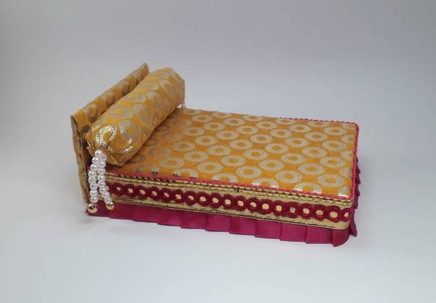R D Handicraft Thakur ji Bed, Laddu Gopal ji Bed and Singhasan Silk All Purpose Chowki