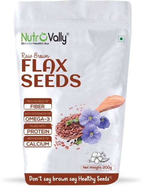 NutroVally Flax Seeds for Weight Loss ,Rich with Fiber and Healthy Heart Flax Seed for Weight Management