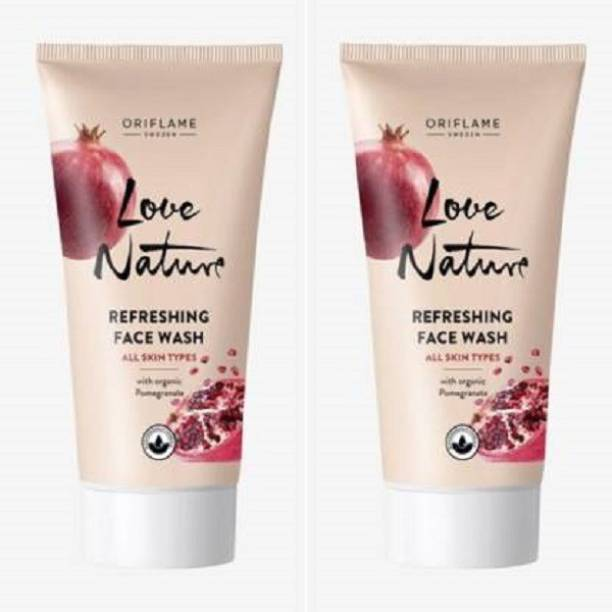 Oriflame Sweden Love Nature Refreshing with Organic Pomegrante  (Pack of 2) Face Wash