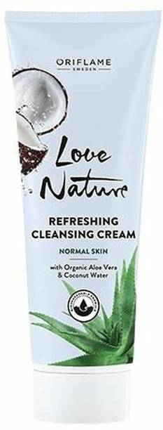Oriflame Sweden Refreshing Cleansing Cream with Aloe vera and Coconut Water Face Wash