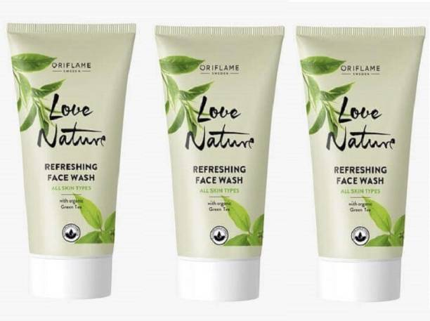 Oriflame Sweden Love Nature Refreshing with Green Tea  (Pack of 3) Face Wash