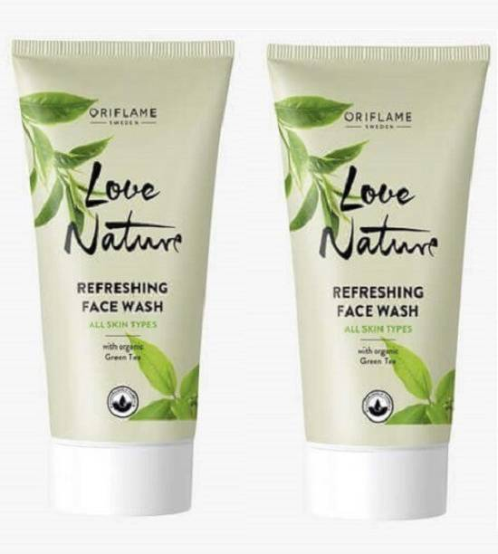 Oriflame Sweden Love Nature Refreshing with Green Tea  (Pack of 2) Face Wash