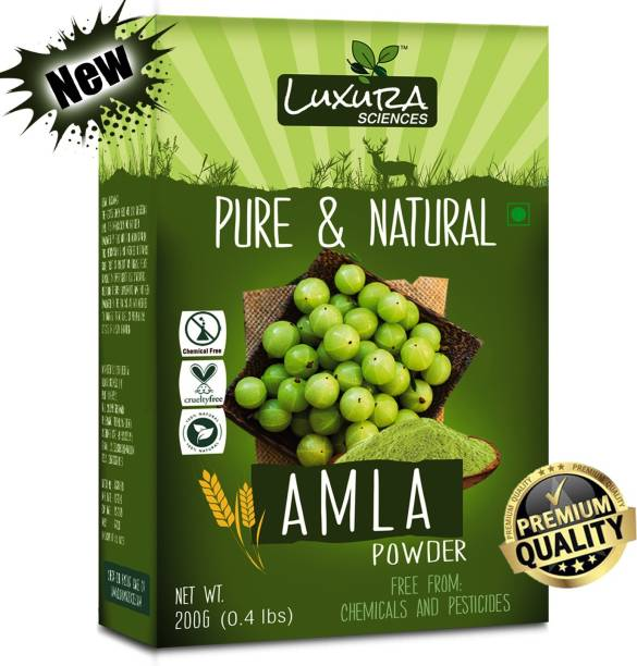 LUXURA SCIENCES Amla Powder For Hair Growth 200 Grams, 100% Pure, Organic and Double Filtered ???