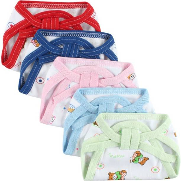 Honey Boo New Born Washable Reusable Hosiery Cotton Diapers, 0-6 Months ( PACK OF 5 )