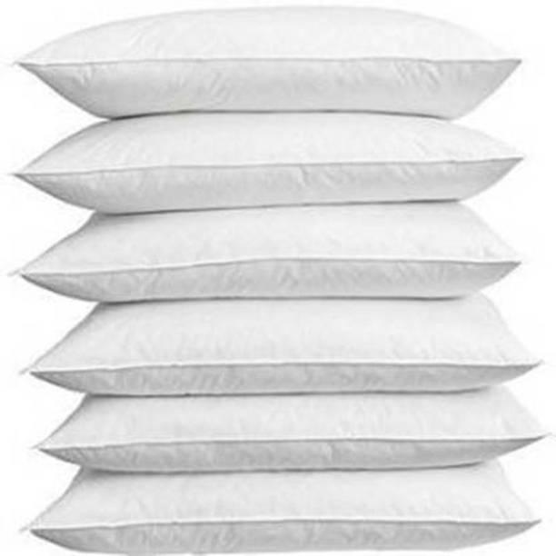 Yash Enterprises Cotton Solid Sleeping Pillow Pack of 6