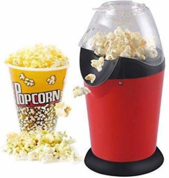TOROLY Popcorn maker Hot Air Popcorn, Popper Electric Machine Snack Maker, with Measuring Cup and Removable Lid/Instant Popcorn Grade Aluminum Alloy Oil Free Popcorn Maker 1 L Popcorn Maker (Multicolor) 1 L Popcorn Maker