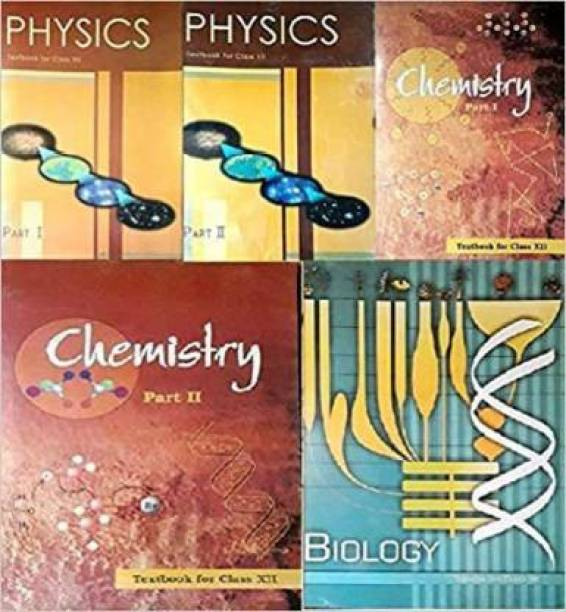 NCERT Textbooks Class 12th Physics Part 1&2 Chemistry Part 1&2 And Biology Combo 2019 Edition (Pack Of 5 Books) Paperback MR Books – 1 January 2019 (Paperback, NCERT)