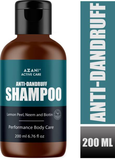 Azani Active Care Anti Dandruff Shampoo with Lemon Peel, Neem, Biotin & Natural Actives