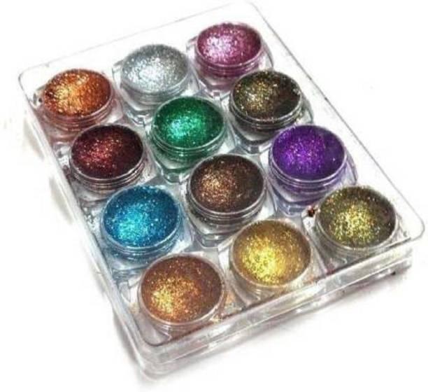 Glamezone Shimmer Glitter Multi Pack (SET OF 12)