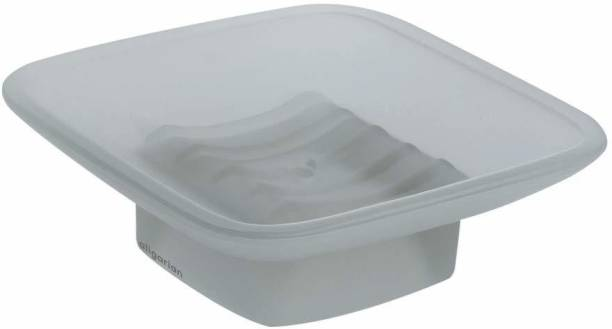aligarian Glass Square Soap Dish For Bathroom