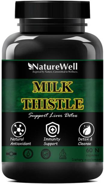 Naturewell Milk Thistle with 800 mg of Silymarin for healthy Liver (60N)Premium