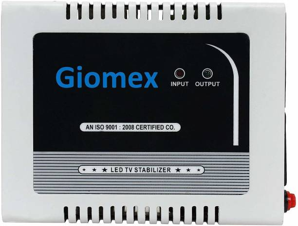 Giomex GMX65TV-G TV Voltage Stabilizer for Upto 65 inch TV Set top Box (Working Range: 90-290V; 3 A) Automatic Voltage Stabilizer