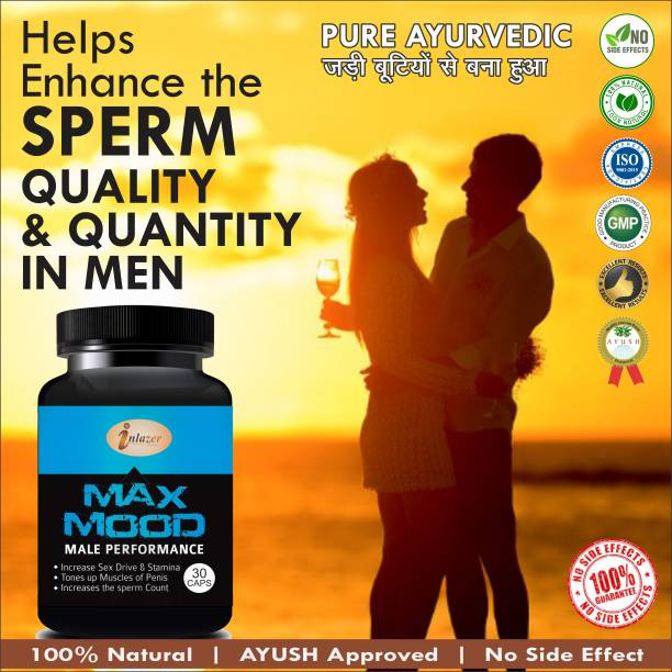 inlazer Max Mood Capsules For Ling Mota Lamba Karne Ki Medicine/Increase Long Time Sex 100% Ayurvedic