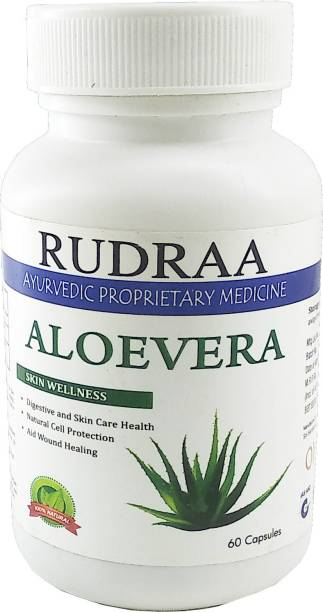 Rudraa Aloe Vera 60 Capsules for purifies your blood and for hair related problems