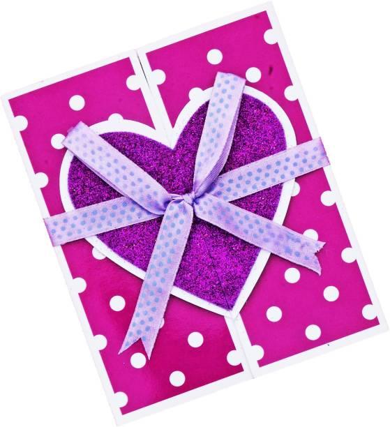UPunitoz Glitter Shiny Birthday Greeting Card - Polka dots Special Birthday Wishing card - Card for Birthday Scrapbook - Handcrafted Greeting card for Husband Friend Wife Fiance (pack of 1) Greeting Card