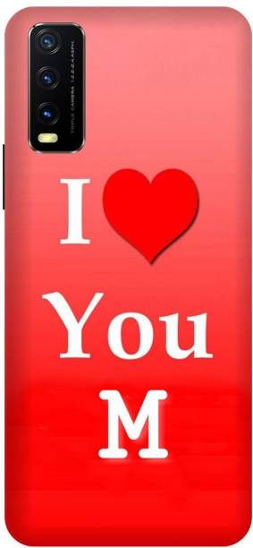 Click Zone Back Cover for Vivo Y20G Printed I Love you M Mobile Back Cover