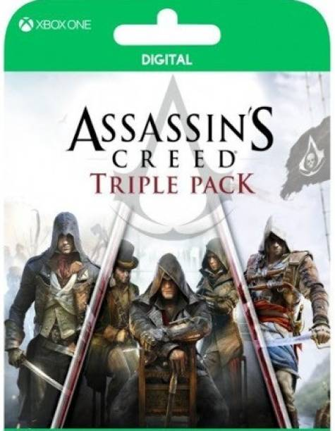 Assassin Creed Triple Pack ( Unity Black + Flag+ syndicate) Bundle Edition