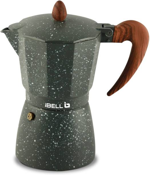 iBELL Classic 3 Cup Moka Pot Espresso Maker / Percolator/ filter Coffee Maker, Italian Espresso 3 Cups Coffee Maker