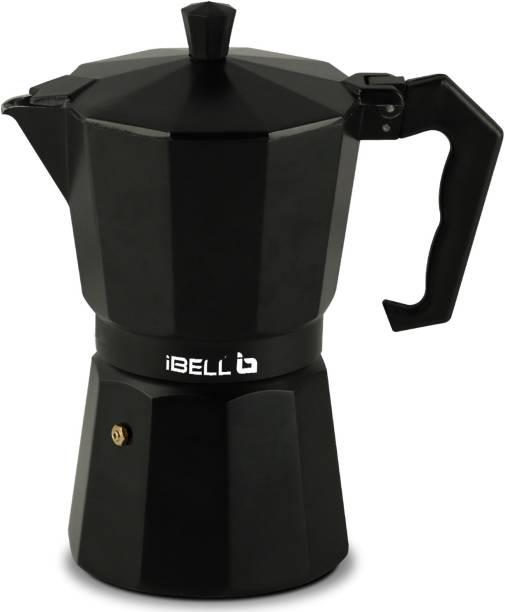 iBELL Classic 6 Cup Moka Pot Espresso Maker / Percolator / filter Coffee Maker, Italian Espresso 6 Cups Coffee Maker