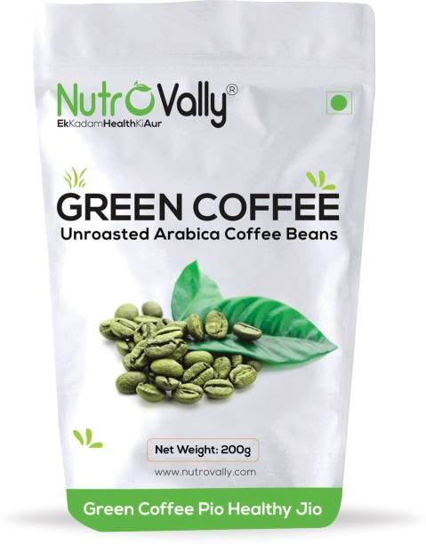 NutroVally Organic Green Coffee Beans for Weight Loss Management Instant Coffee