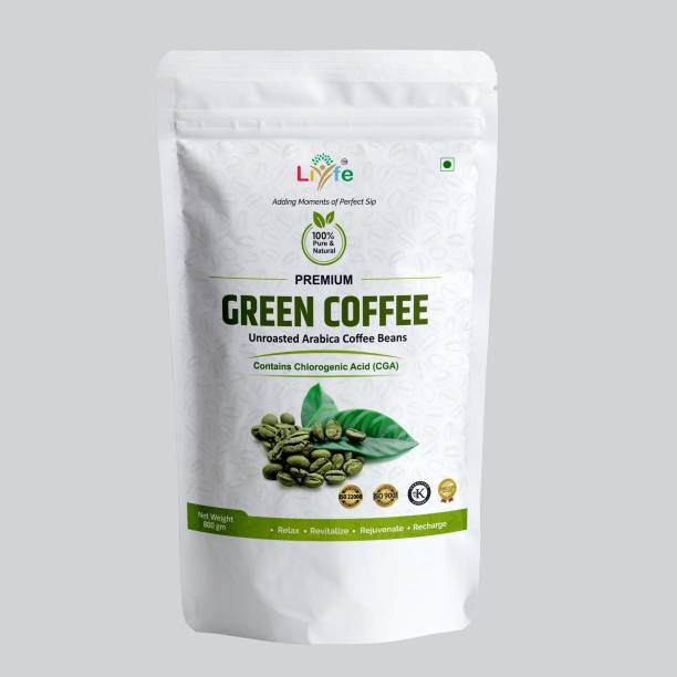 LIYFE Green Coffee Beans Weight loss Unroasted Arabica Instant Coffee