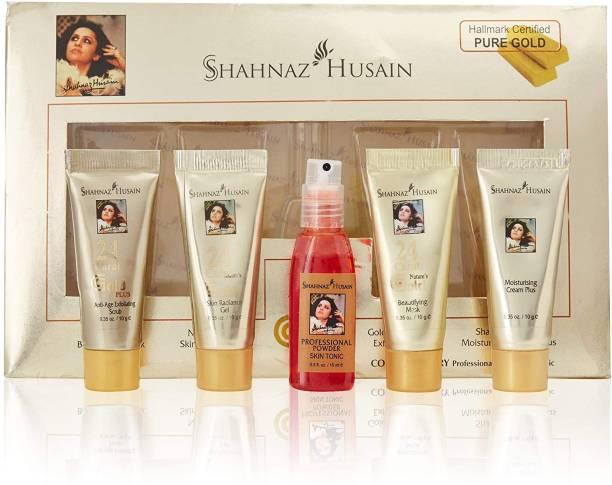 Shahnaz Husain Gold Facial Kit (Mini), 40g+15 ml