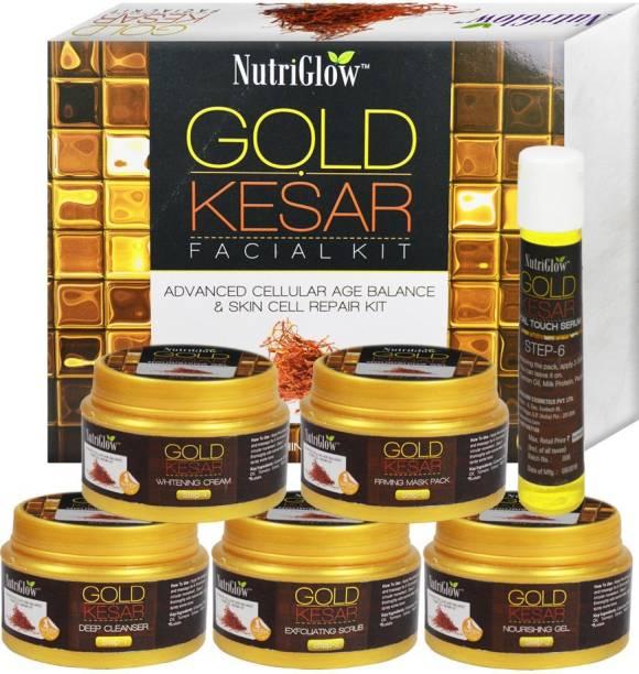 NutriGlow Gold Keshar Facial Kit Instant Radian Shine & Youthful Glow