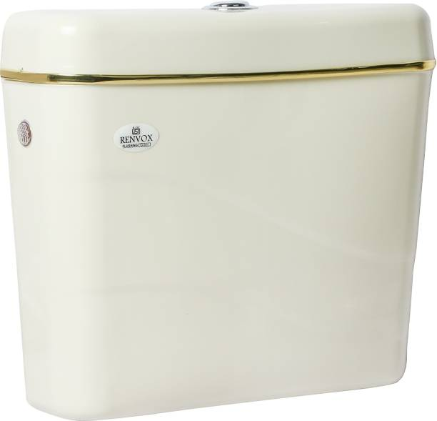 RENVOX ISI Certified PVC Center Push Type Cistern Flush Tank With All Accessories Standard Size and Durable Quality Flush Tank Single Flush Tank