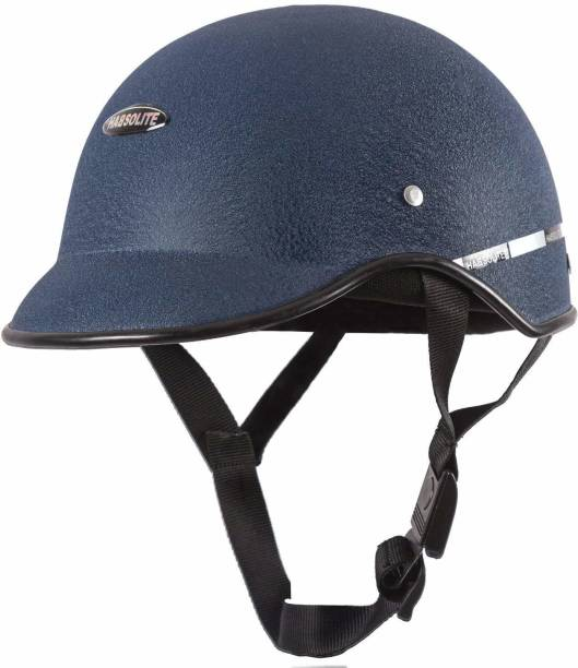 Habsolite Mini Wrinkle All Purpose Safety Helmet with Quick Release Strap for Men & Women Motorbike Helmet