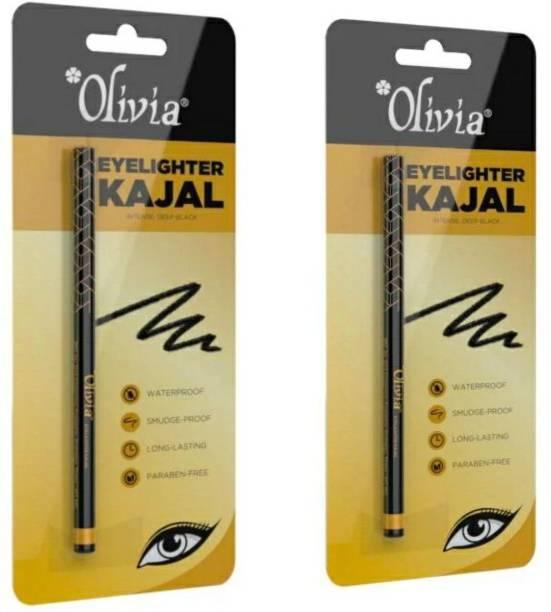 Olivia Eyelighter Kajal Intense Deep Black 0.30g x2