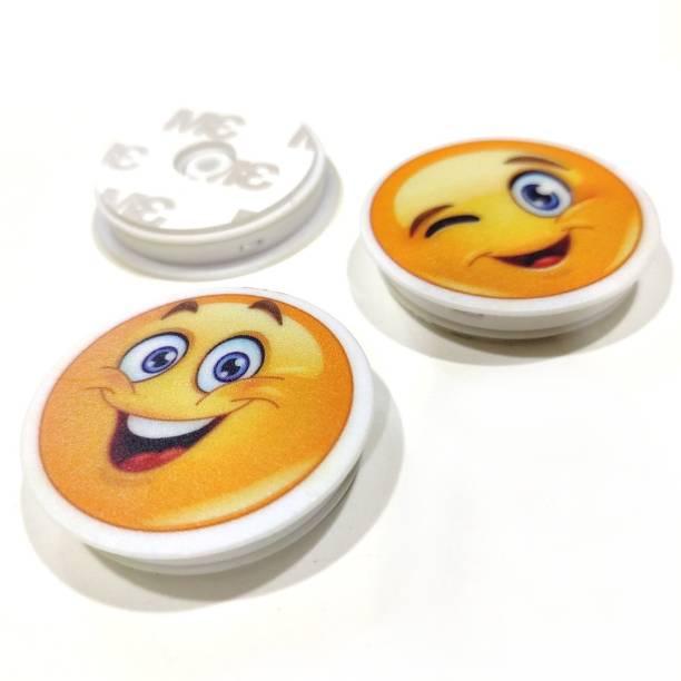 Wawoo 360° Rotation Compatible Smiley Emoji Drop Effect Popholder For Mobile Cell Phone and Tablet Back Finger Grip Expanding Selfie Stand Bike Mobile Holder