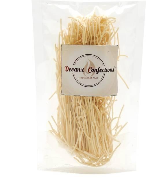 DEVANX CONFECTIONS Hakka Noodles | 1 KG | Rice Noodle | Plain Noodles | Chowmein Gluten Free | Long, slurpy Noodles | with Real Vegetables and nutrients | Hakka Noodles Vegetarian