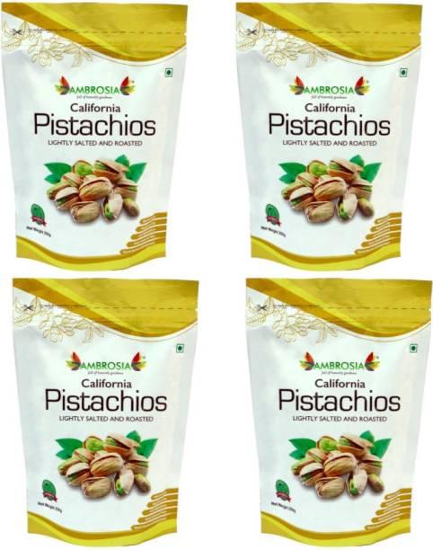 AMBROSIA Premium Roasted and Salted California Pista Pistachios