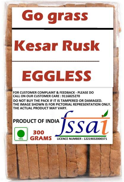 GO GRASS PREMIUM QUALITY KESAR ELAICHI RUSK KESAR ELAICHI RUSK flavored Elaichi Rusk