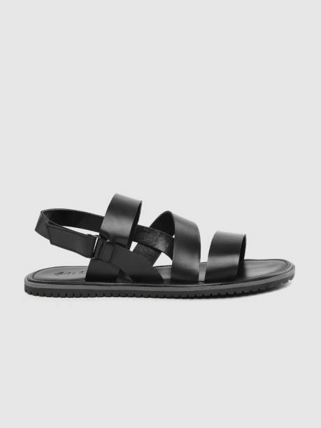 MAST & HARBOUR Men Black Sandals