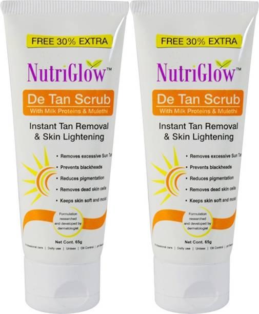 NutriGlow DE-TAN Face Scurb-65g(Pack Of 2) Scrub
