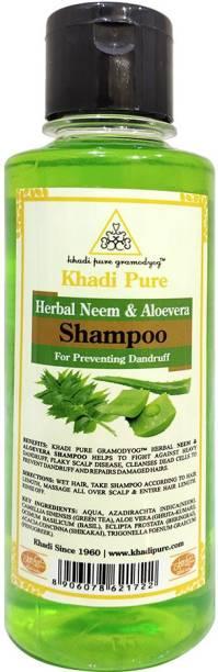 Khadi Pure Herbal Neem & Aloevera Shampoo